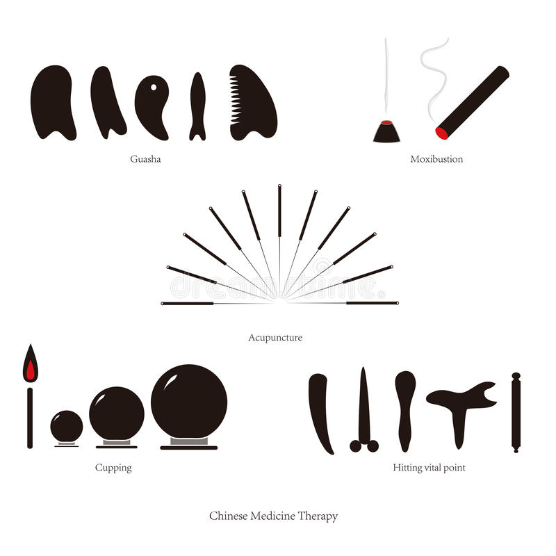 Download Chinese medical therapy stock vector. Image of acupuncturist - 25884522