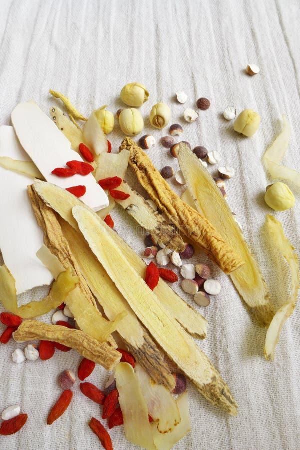 Chinese medicine herbs stock image