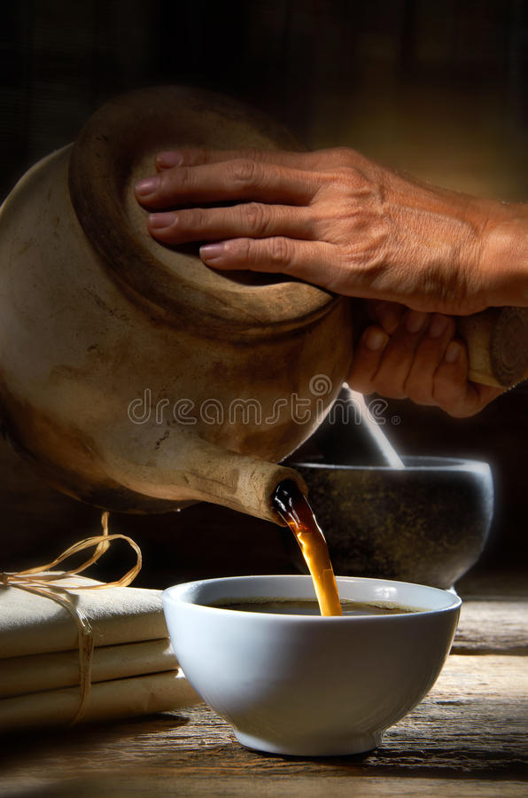 Chinese Medicine Prescription royalty free stock photography