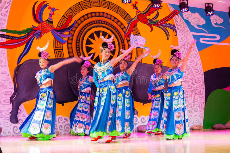 The chinese miao dancing royalty free stock images