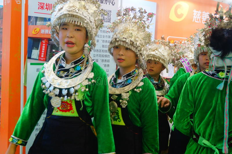 Chinese Miao girls royalty free stock images