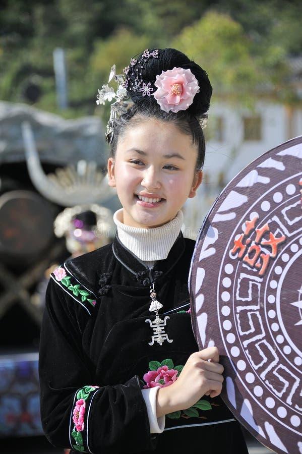Chinese Miao Nationality Girl Editorial Photo
