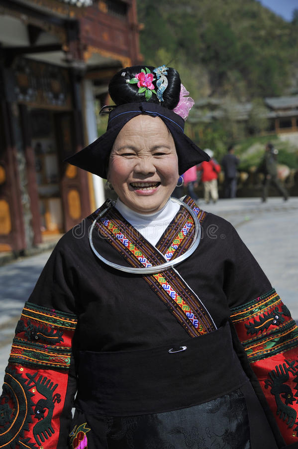 Chinese Miao nationality old woman