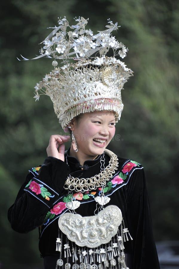 Chinese Miao nationality woman stock photos