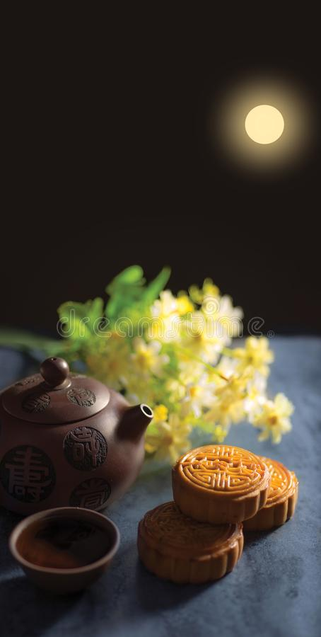 Chinese Mid Autumn Festival moon cake royalty free stock images