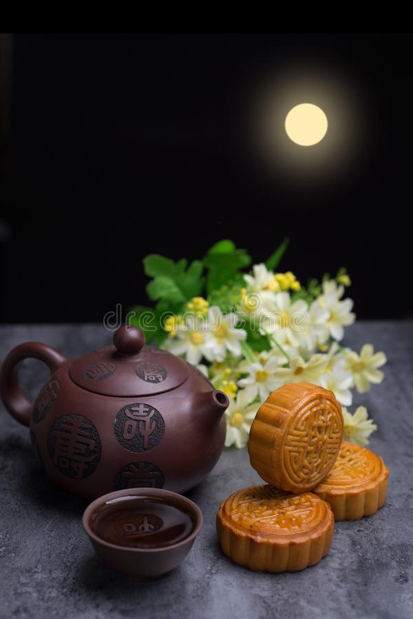 Chinese Mid Autumn Festival moon cake royalty free stock image