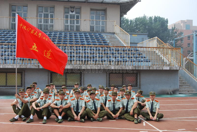 Chinese military training for students 2 royalty free stock photos
