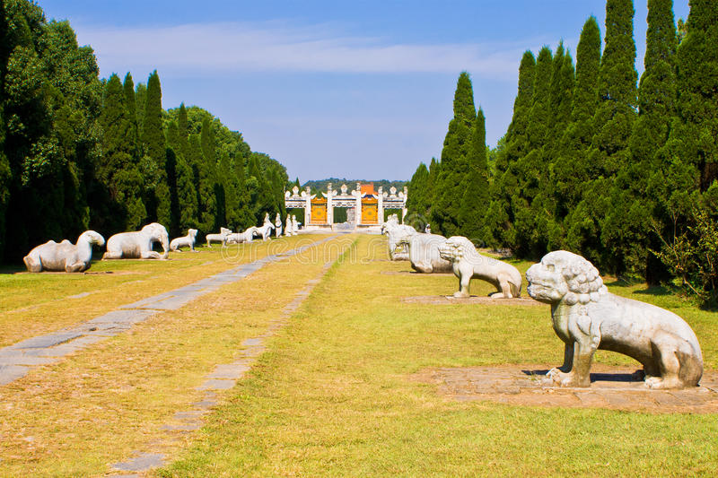 Chinese Ming Dynasty imperial tombs in zhongxiang. Chinese Ming Dynasty imperial tombs,Architecture,zhuhoucong stock photo