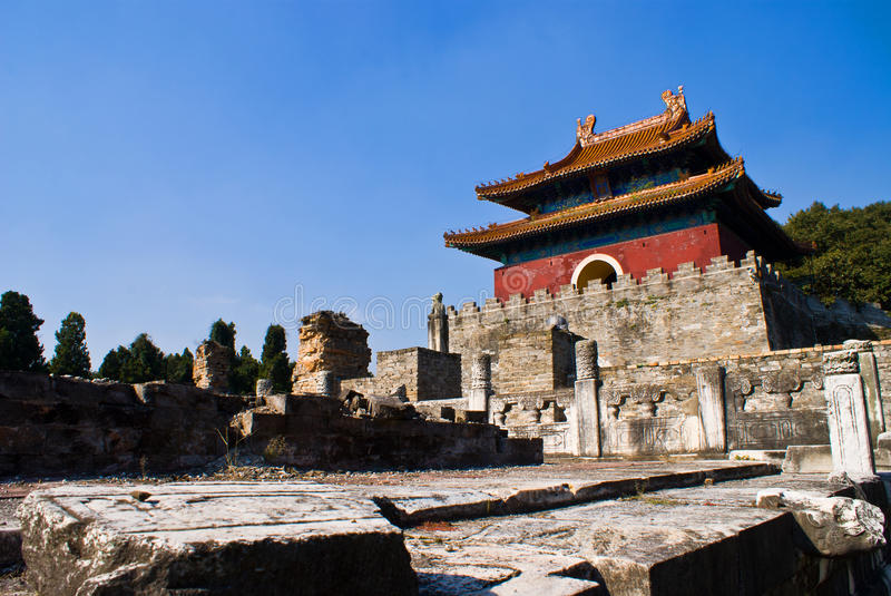 Chinese Ming Dynasty imperial tombs in zhongxiang. Chinese Ming Dynasty imperial tombs,Architecture royalty free stock photos