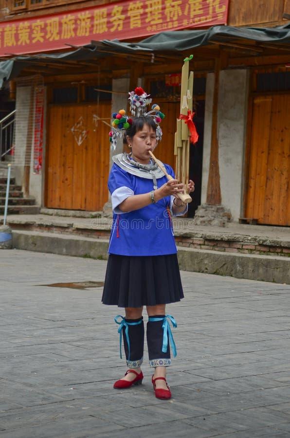 Chinese minority woman stock photos
