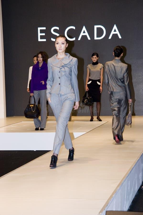 Chinese models in Shenzhen Fashion Week royalty free stock photos
