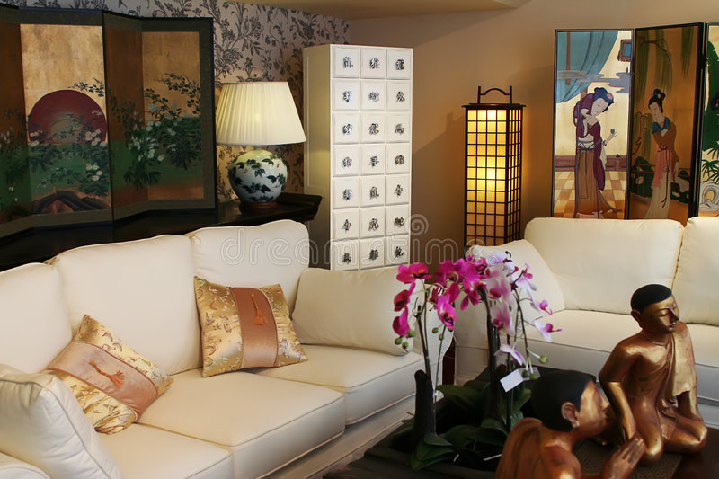 Chinese modern interior stock photos