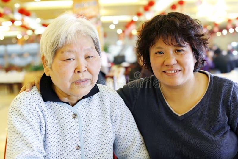 Chinese moeder-dochter royalty-vrije stock fotografie
