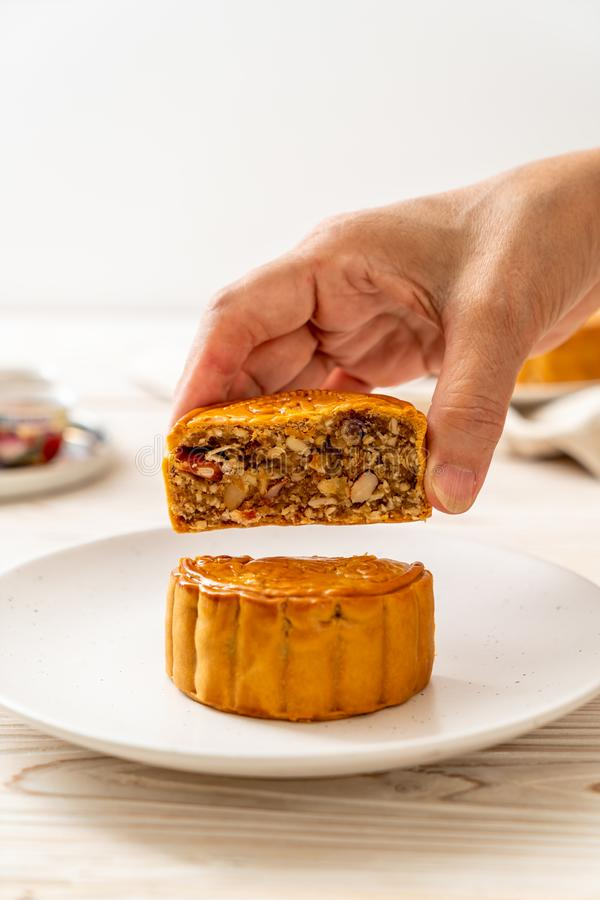 Chinese moon cake for Chinese mid-autumn festival royalty free stock photos