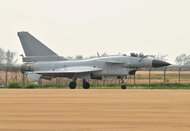 Chinese most advanced jet fighter-J10 royalty free stock photography