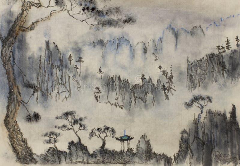Chinese mountain vector illustration