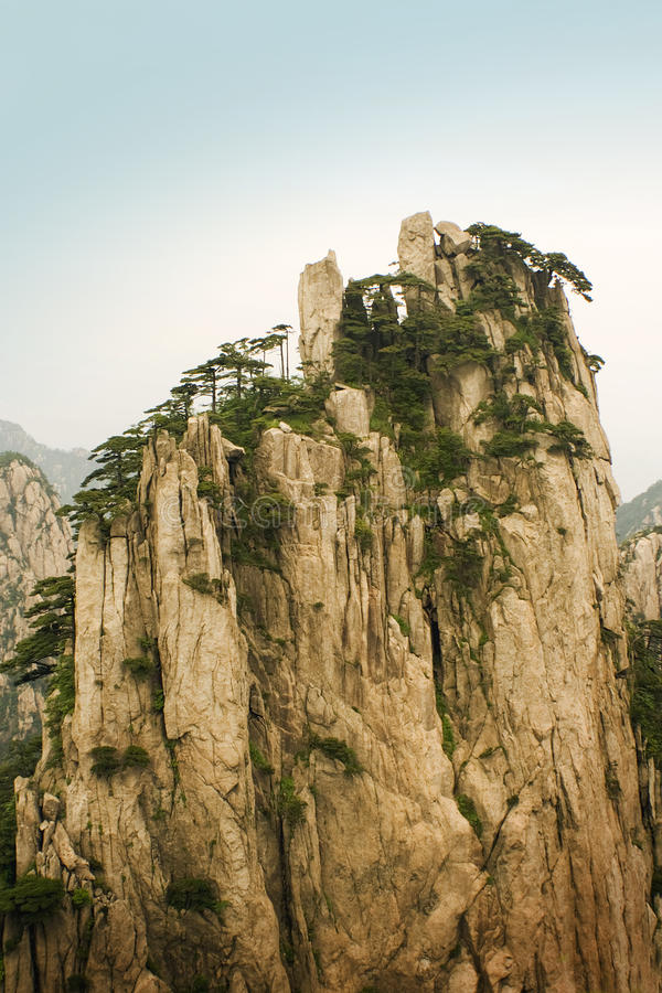 Chinese mountains, beginnig to believe peak royalty free stock photos