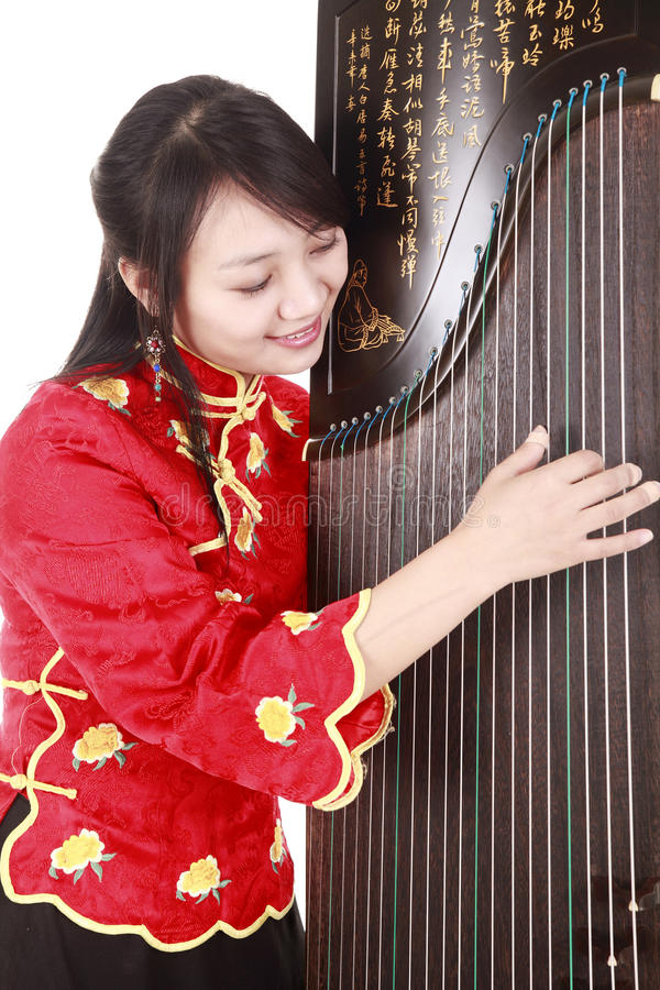 Download Chinese musician stock photo. Image of dress, charming - 13493744