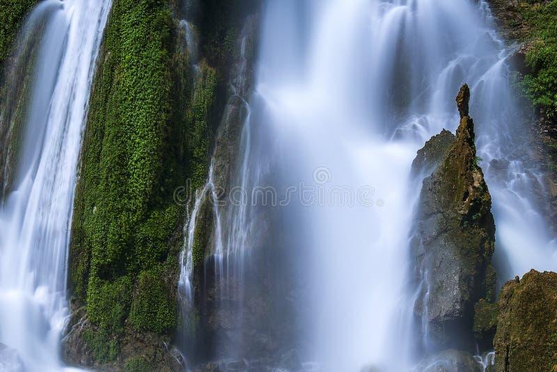 China 's Guizhou White Waterfall royalty free stock photos