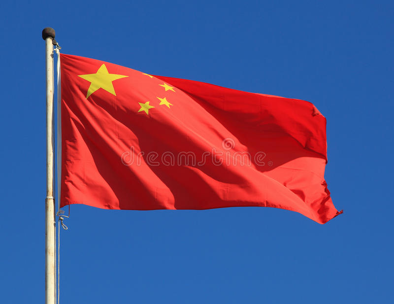 Chinese national flag royalty free stock images