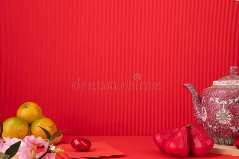 Red Chinese new year Background with copy space royalty free stock images