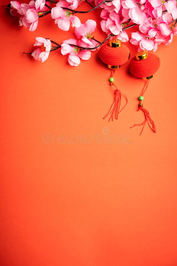 Chinese New Year background, red background stock image