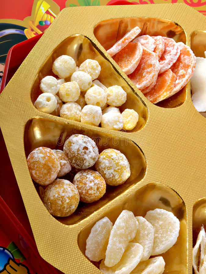 Chinese New Year Candy stock photos