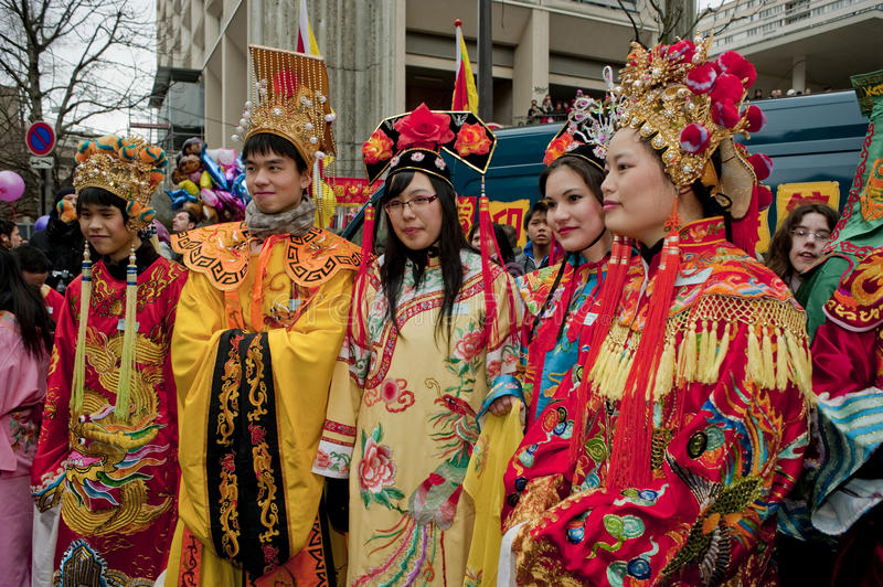Download Chinese New Year Carnival,  Teens In Costumes Editorial Photo - Image: 13133566