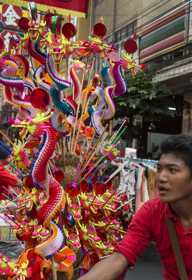 Chinese New Year Celebrations - Bangkok - Thailand royalty free stock photos