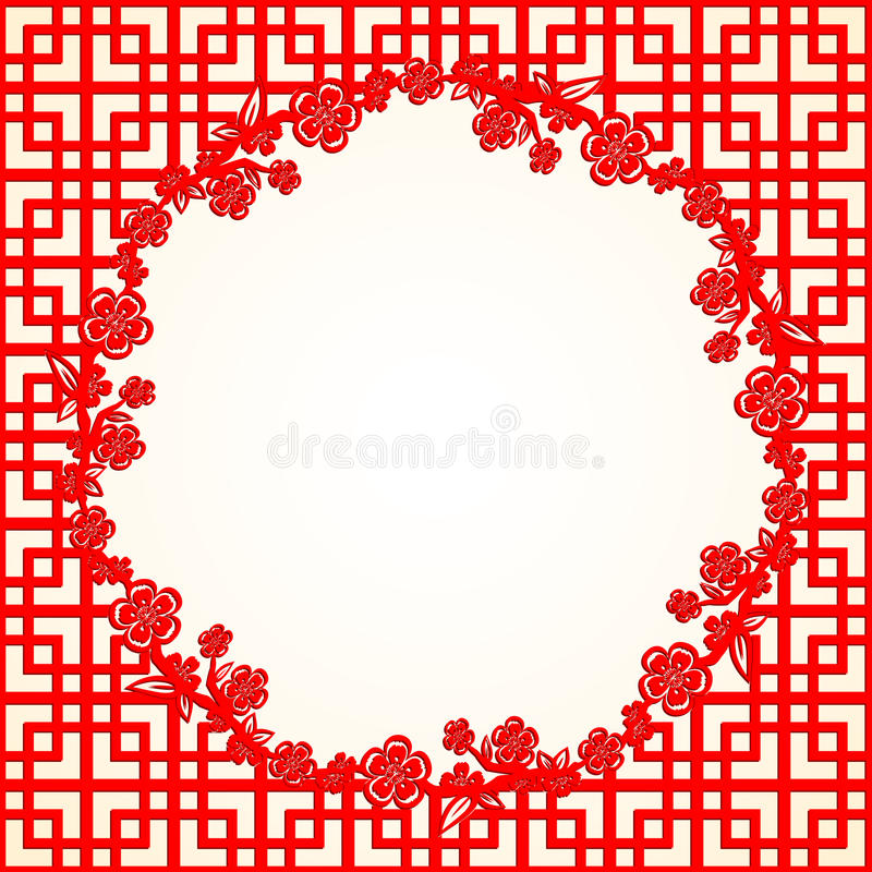 Chinese New Year Cherry Blossom Background royalty free stock images