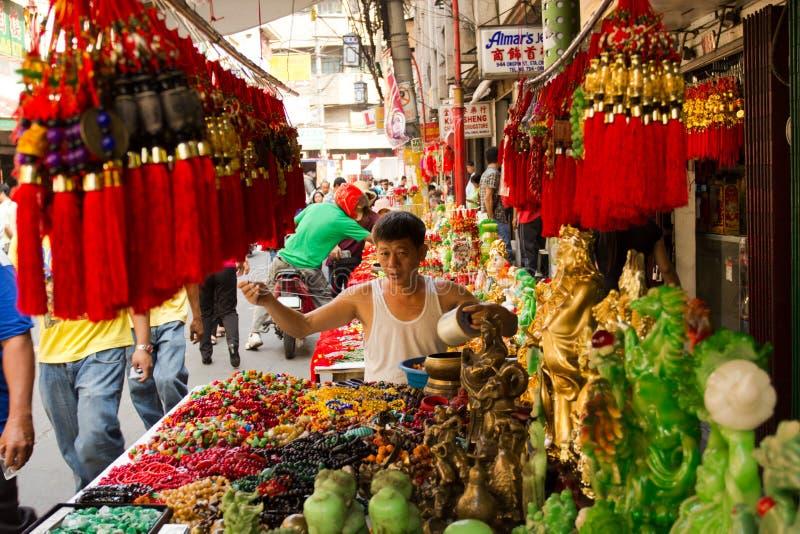 Chinese new year in Chinatown, Manila, Philippines. February 6, 2013: Filipino-Chinese community preparing for chinese new year in Chinatown, Manila, Philppines stock images