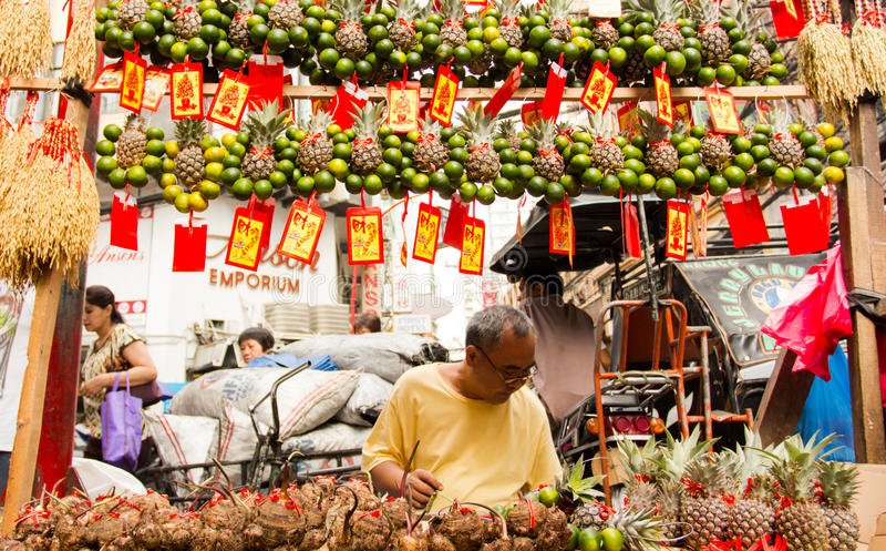 Chinese new year in Chinatown, Manila, Philippines royalty free stock photo