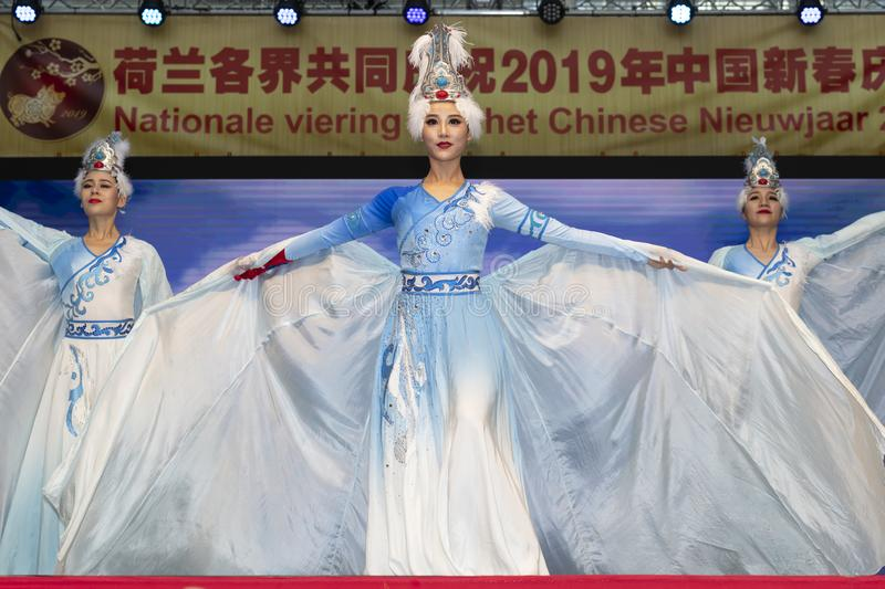 Chinese New Year 2019. Chinese show and stage performance by Art group from Henan Province China in the city hall premise celebrating the Chinese new year 2019 royalty free stock photos