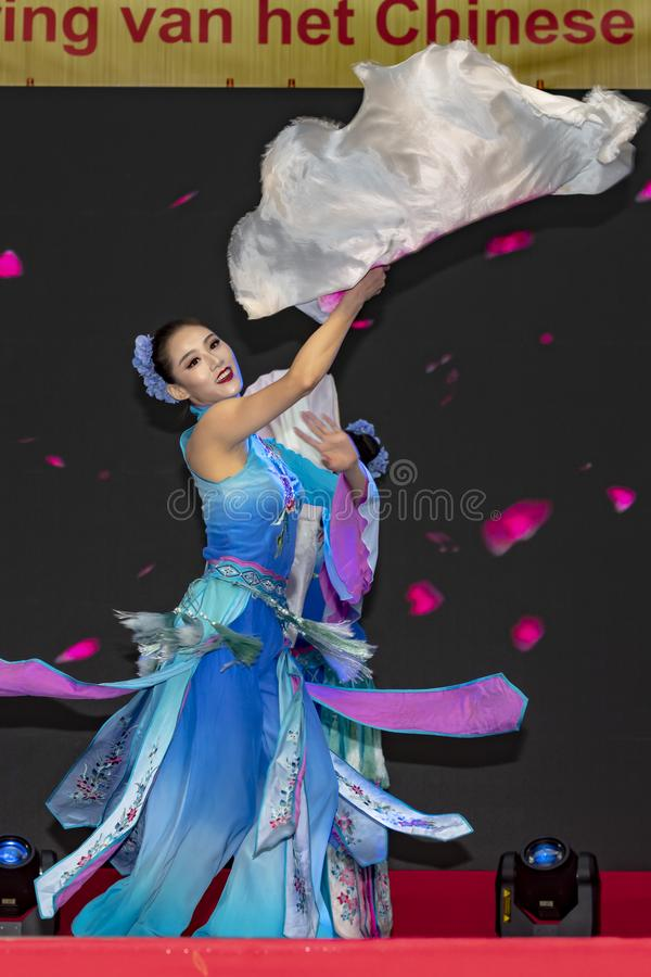 Chinese New Year 2019. Chinese show and stage performance by Art group from Henan Province China in the city hall premise celebrating the Chinese new year 2019 stock photos