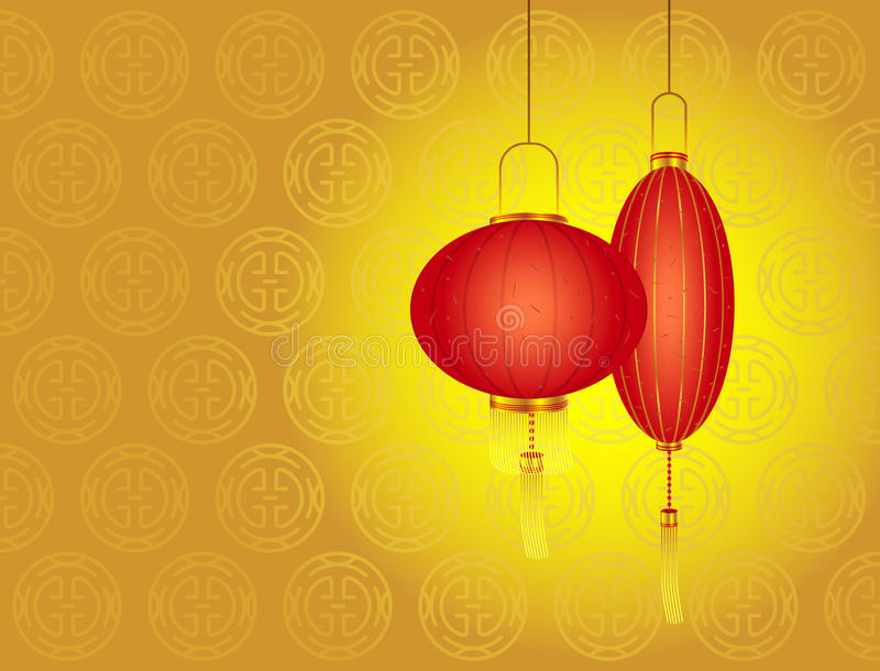 Chinese New Year Day - Red Lanterns Royalty Free Stock Photography