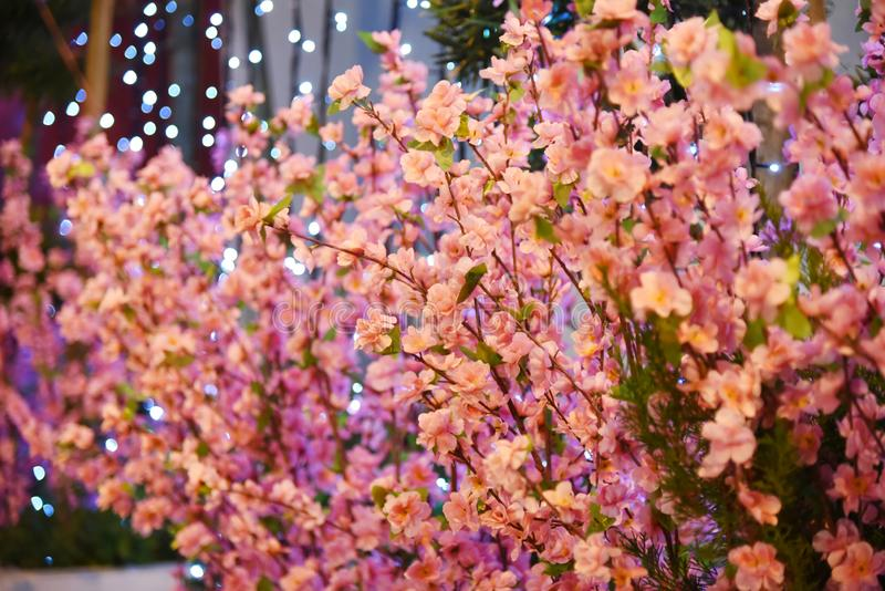 Chinese new year deco flower stock photography