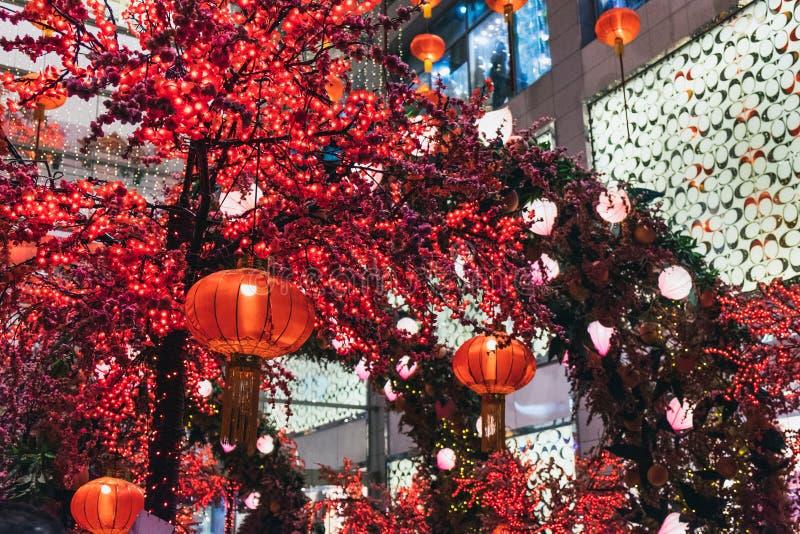 Chinese New Year decoration Kuala Lumpur, Malaysia stock photography