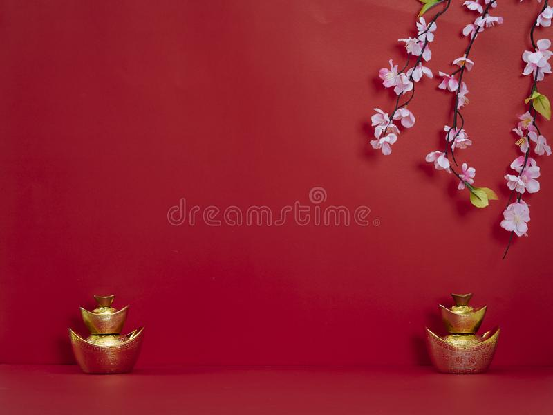 Chinese New Year decoration for spring festival stock image