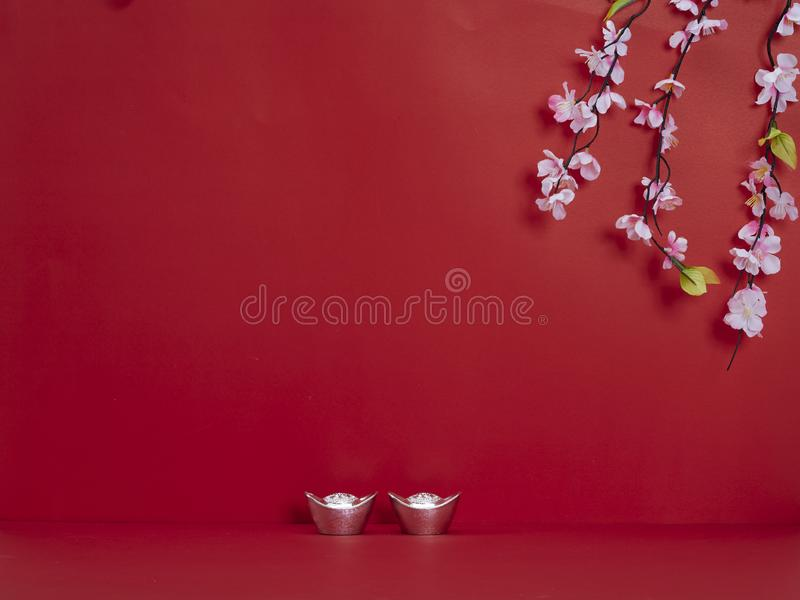 Chinese New Year decoration for spring festival stock photography