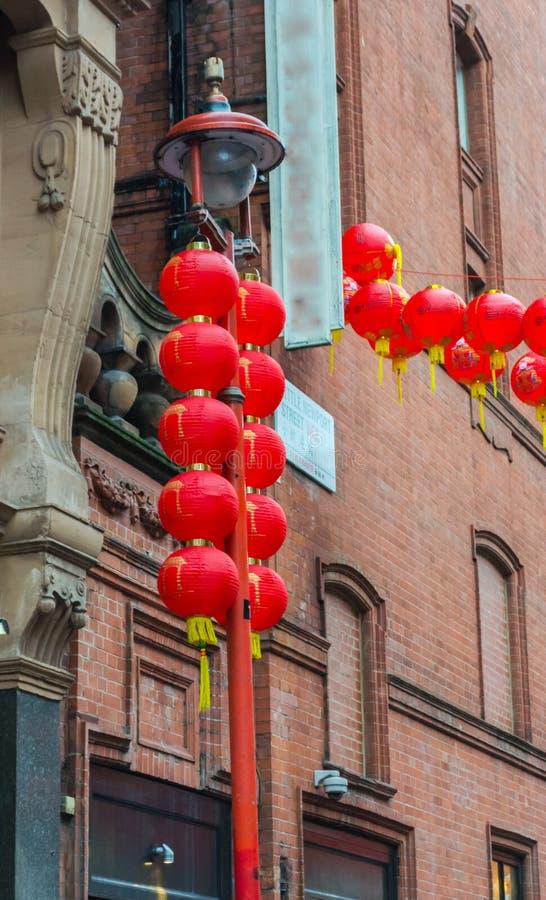 Chinese New Year Decorations, Chinatown. London. UK. Stock ...