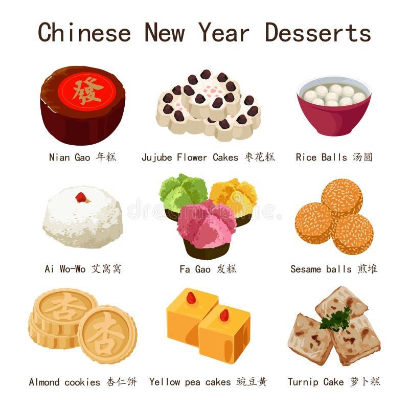 Chinese New Year Desserts Illustration. A vector illustration of Chinese New Year Desserts royalty free illustration