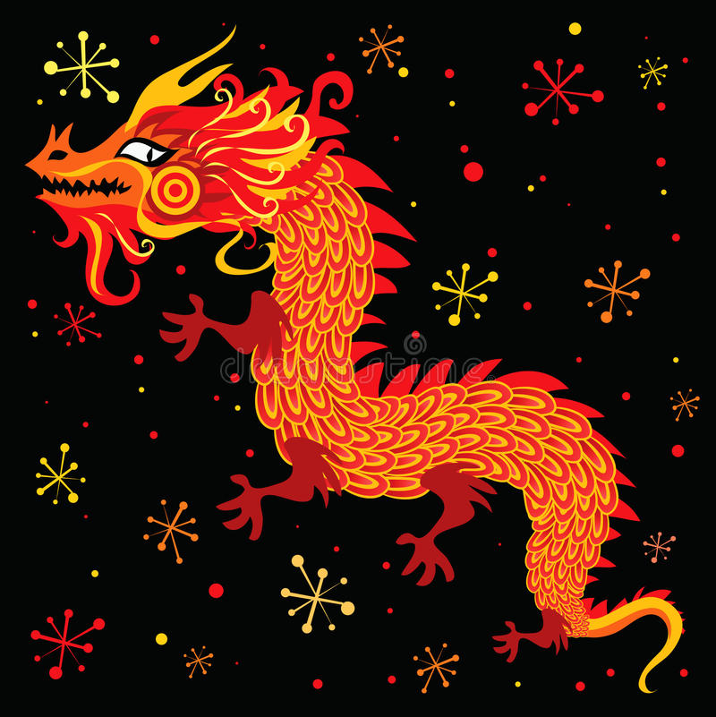 Chinese New Year Dragon stock vector. Illustration of ...
