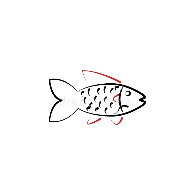 Chinese new year, fish icon. Can be used for web, logo, mobile app, UI, UX royalty free illustration