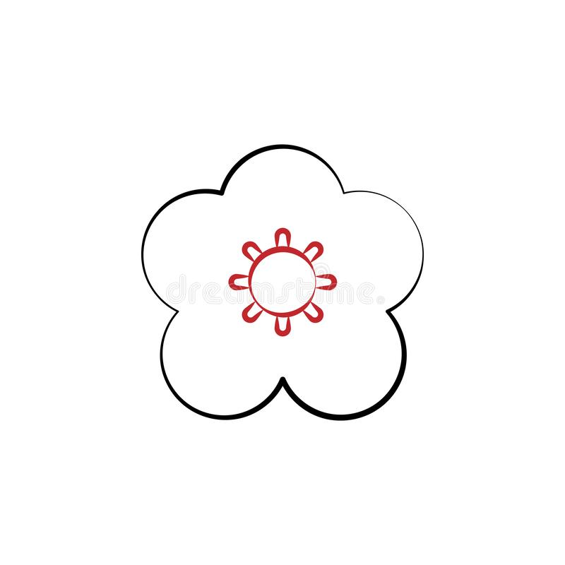 Chinese new year, flower, plum blossom icon. Can be used for web, logo, mobile app, UI, UX vector illustration