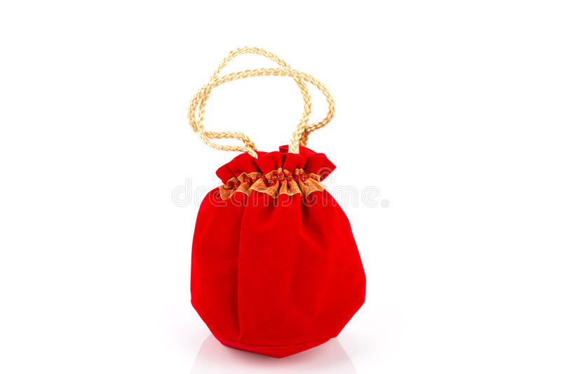 Chinese New Year Gift Bag and decoration. On White Background royalty free stock photos