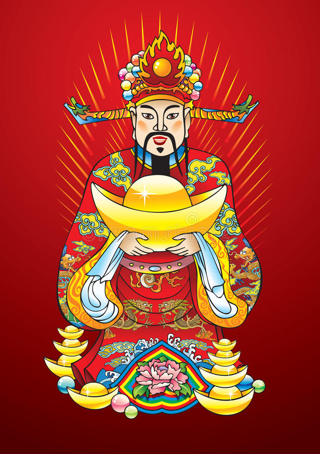 Download Chinese New Year God Of Wealth Stock Vector - Image: 12726033