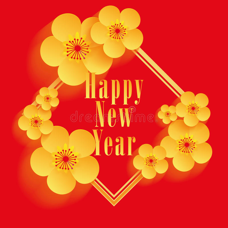 chinese new year greeting card design stock vector illustration