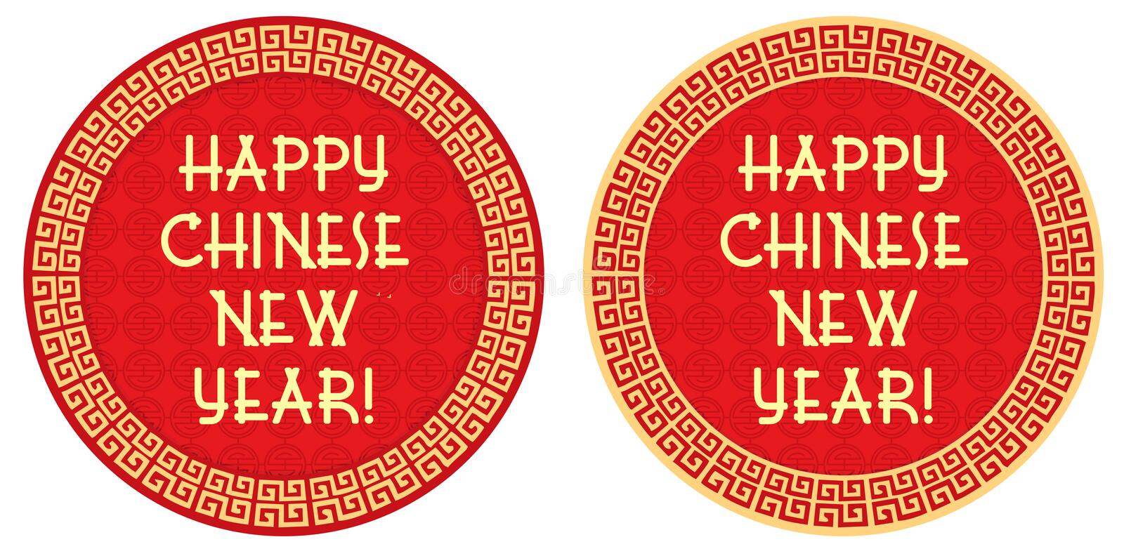 Chinese New Year Greeting - Label, Tag royalty free illustration