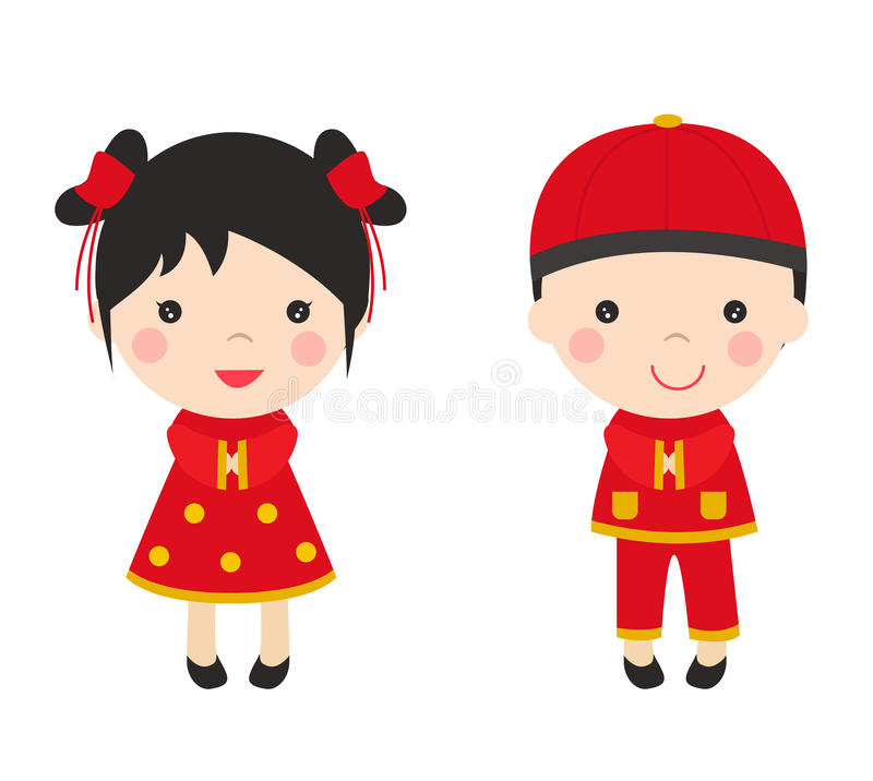 chinese new year greetings children stock vector illustration of rh dreamstime com