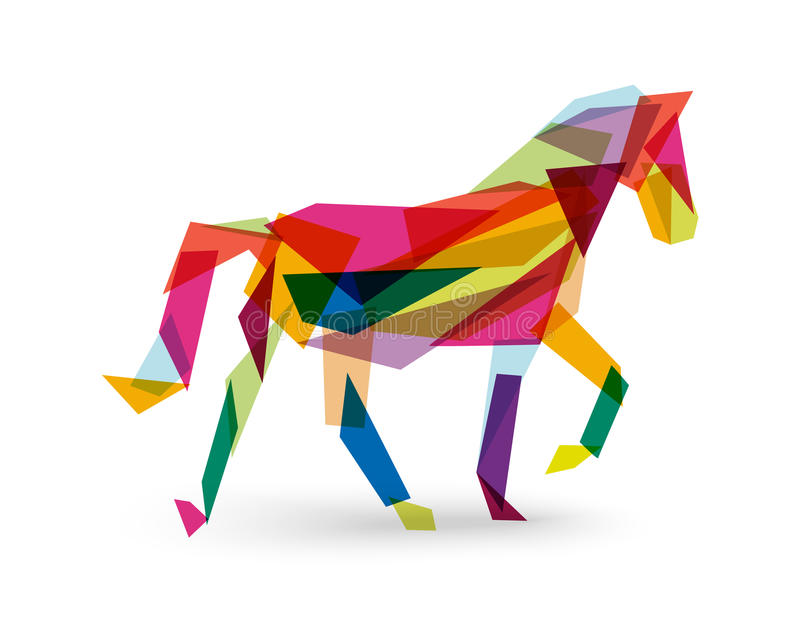 Abstract Triangle Volleyball Player Silhouette Stock: Chinese New Year Of The Horse Abstract Triangle EPS10 File